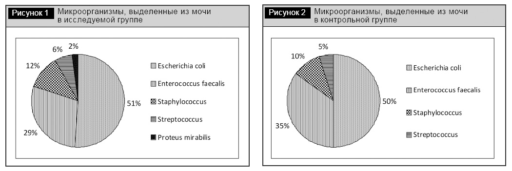 Спектр микроорганизмов